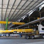 Truck carrying a Double Girder Crane