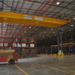 Warehouse interior with Morris Overhead Crane