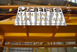 Morris Crane Refurbishment Signage