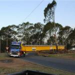Morris Crane Aid in Transit