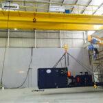 Installing Morris / ABUS Cranes at Sandvik's central African facility