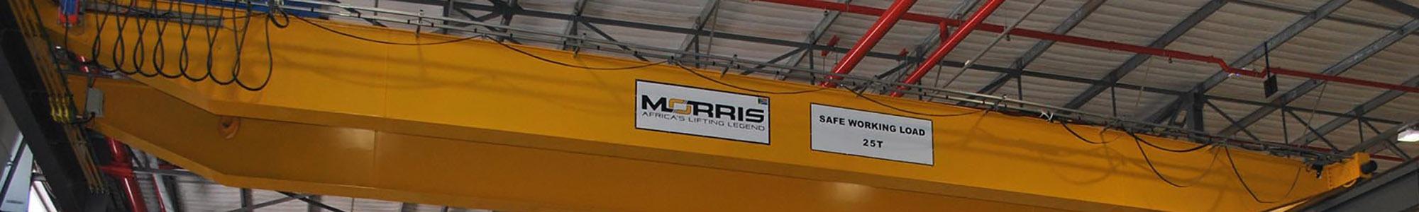 Morris 25 ton double girder crane view