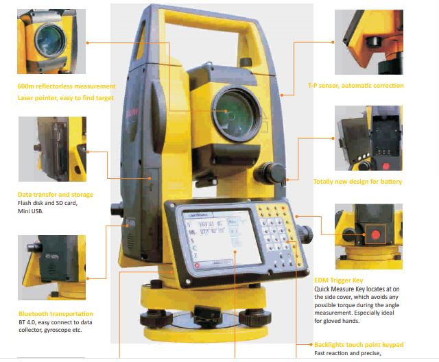 Total station side view